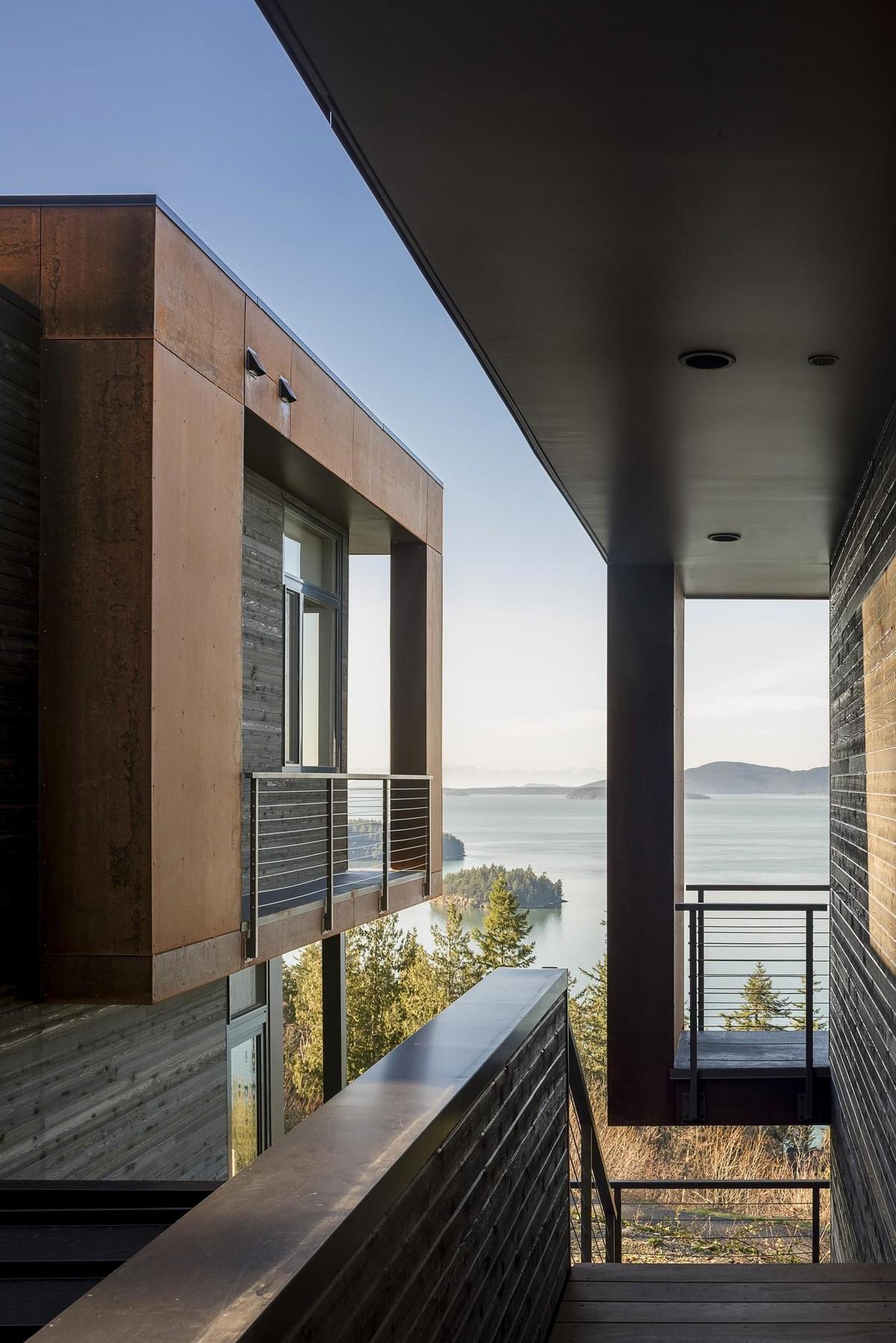 Резиденция с видом на залив в США