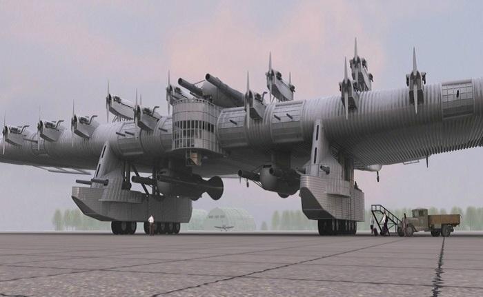 Многообещающий проект СССР летающая крепость