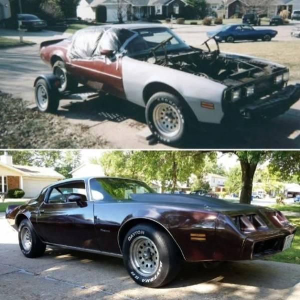 Отреставрированные автомобили: до и после