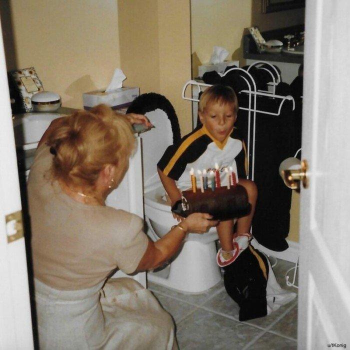 Забавные и неловкие снимки из семейных архивов