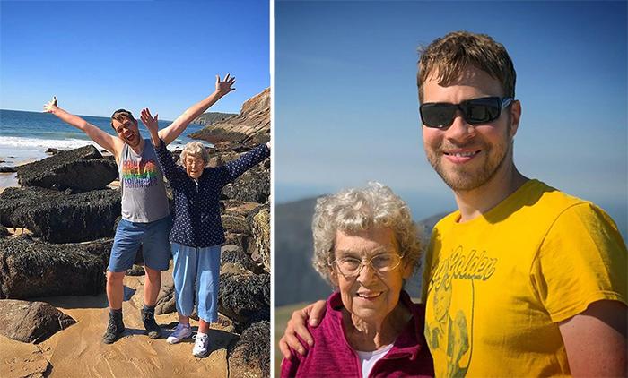 Внук отправился с бабушкой в путешествие, чтобы показать ей мир