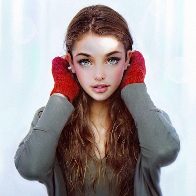 Гиперреалистичные цифровые портреты от Ираклия Надара
