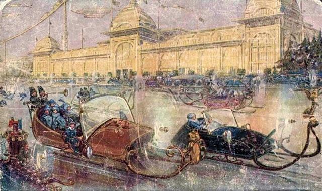 Как художники в 1914 году представляли себе Москву XXIII века