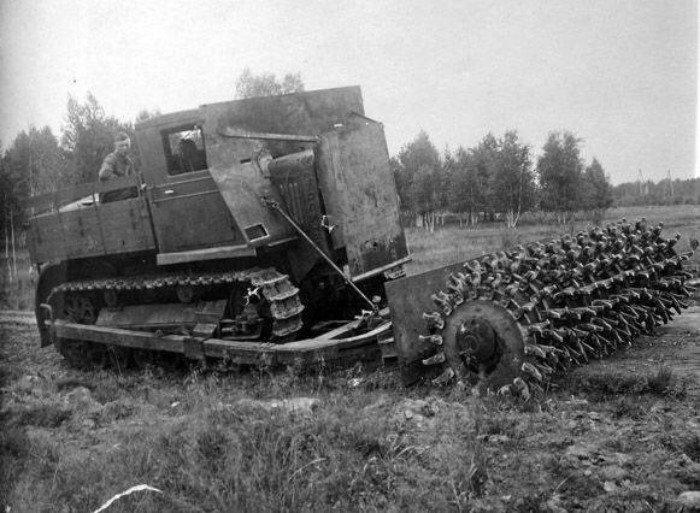 Минные тральщики на базе танков Великой отечественной