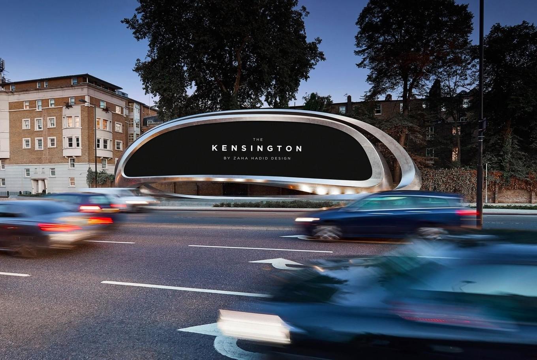 Рекламная платформа в Лондоне от Zaha Hadid Design
