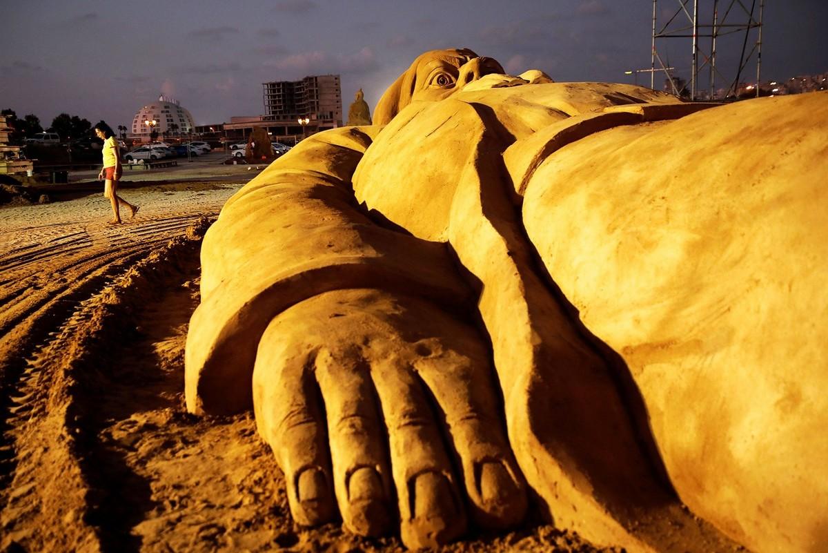 Международный фестиваль песчаных скульптур 2019 в Израиле