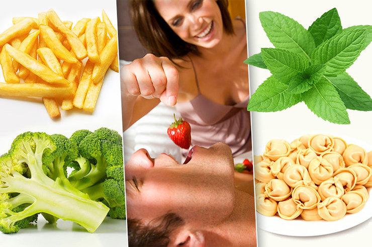 Какие продукты не рекомендуется есть перед сексом