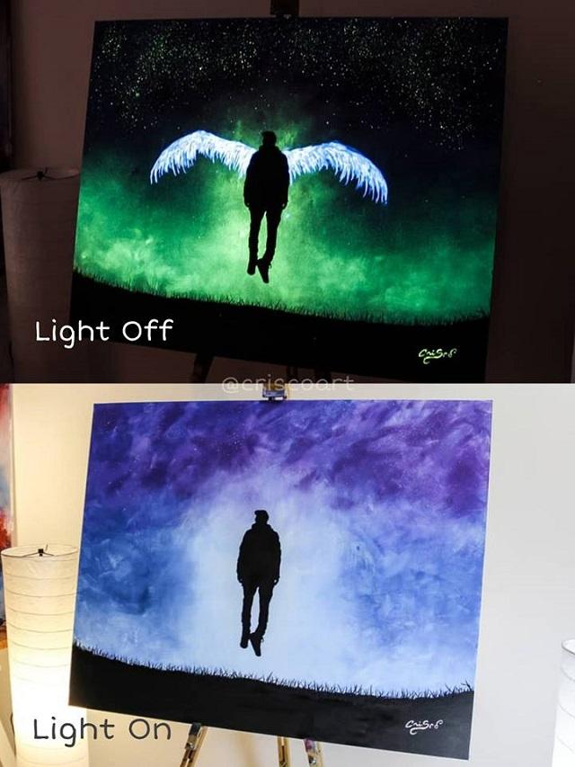 Светящиеся картины итальянского художника