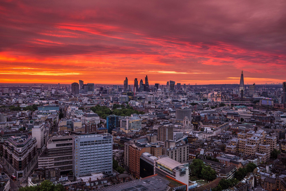 Лондон с высоты глазами руфера