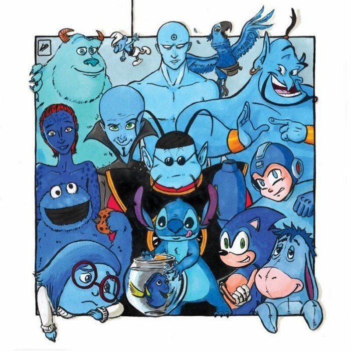 Любимые персонажи в разных цветных командах