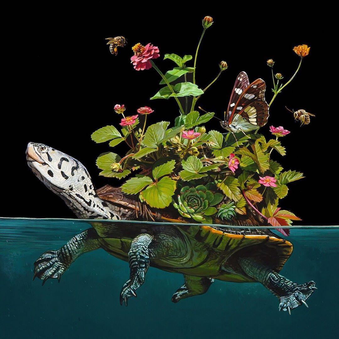 Животные на границе миров в картинах Лизы Эриксон