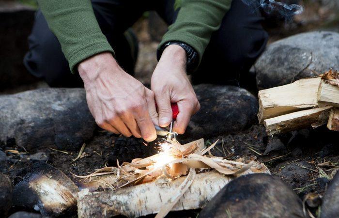 Способы добыть огонь при помощи подручных средств