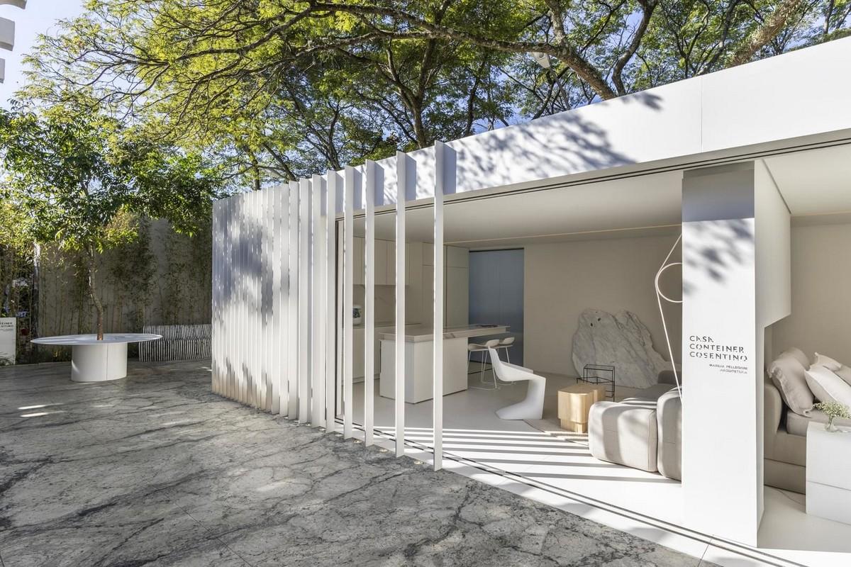 Белый дом из контейнеров в Бразилии