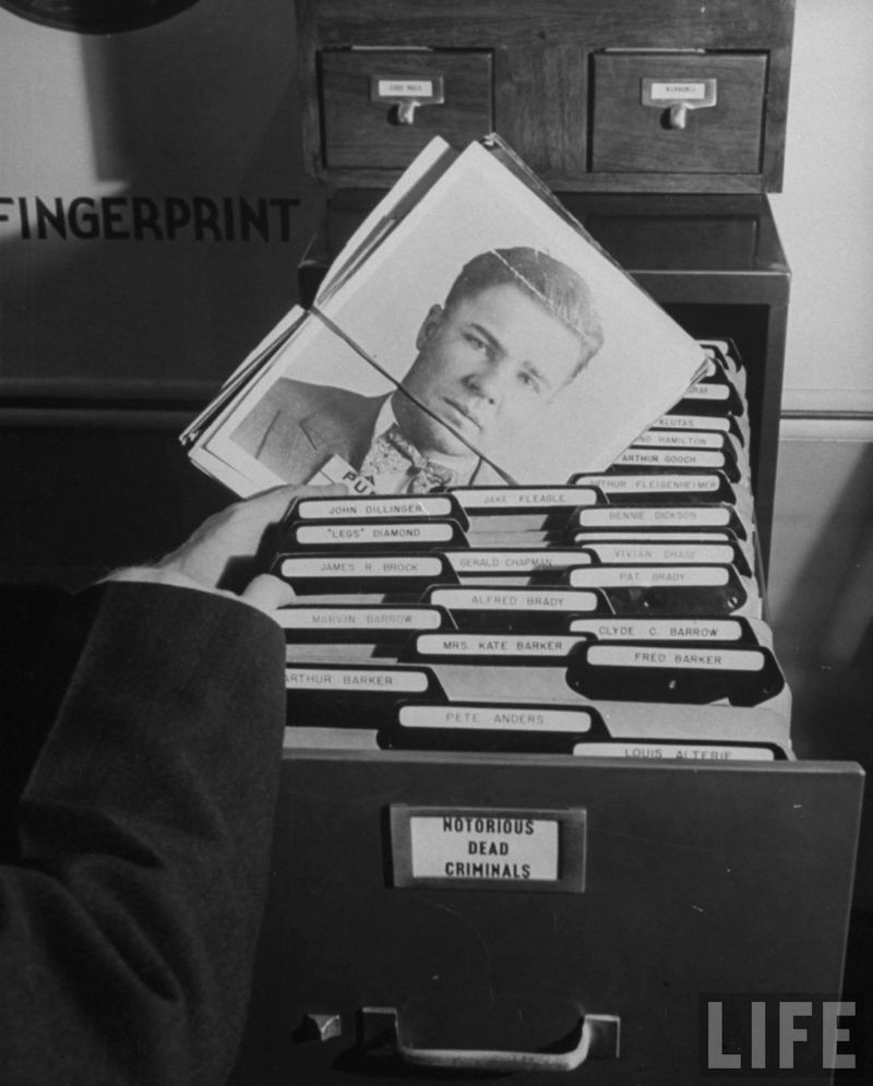 Картотека отпечатков пальцев ФБР до перехода на электронную базу