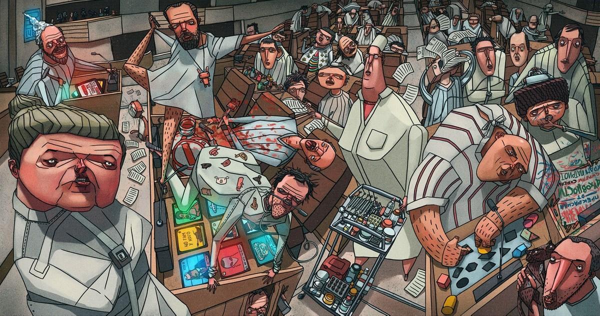 Фантастическая Россия в стиле киберпанк от художника из Красноярска