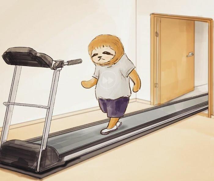 Комиксы о сложной жизни ленивцев в человеческом мире