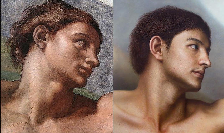 Реалистичные портреты персонажей известных картин и скульптур