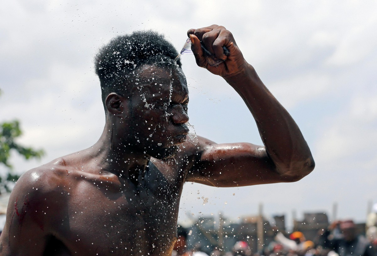 Жестокий нигерийский бокс Дамбе