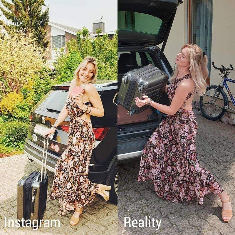 Девушка из Швейцарии показывает приукрашенную реальность в Инстаграме