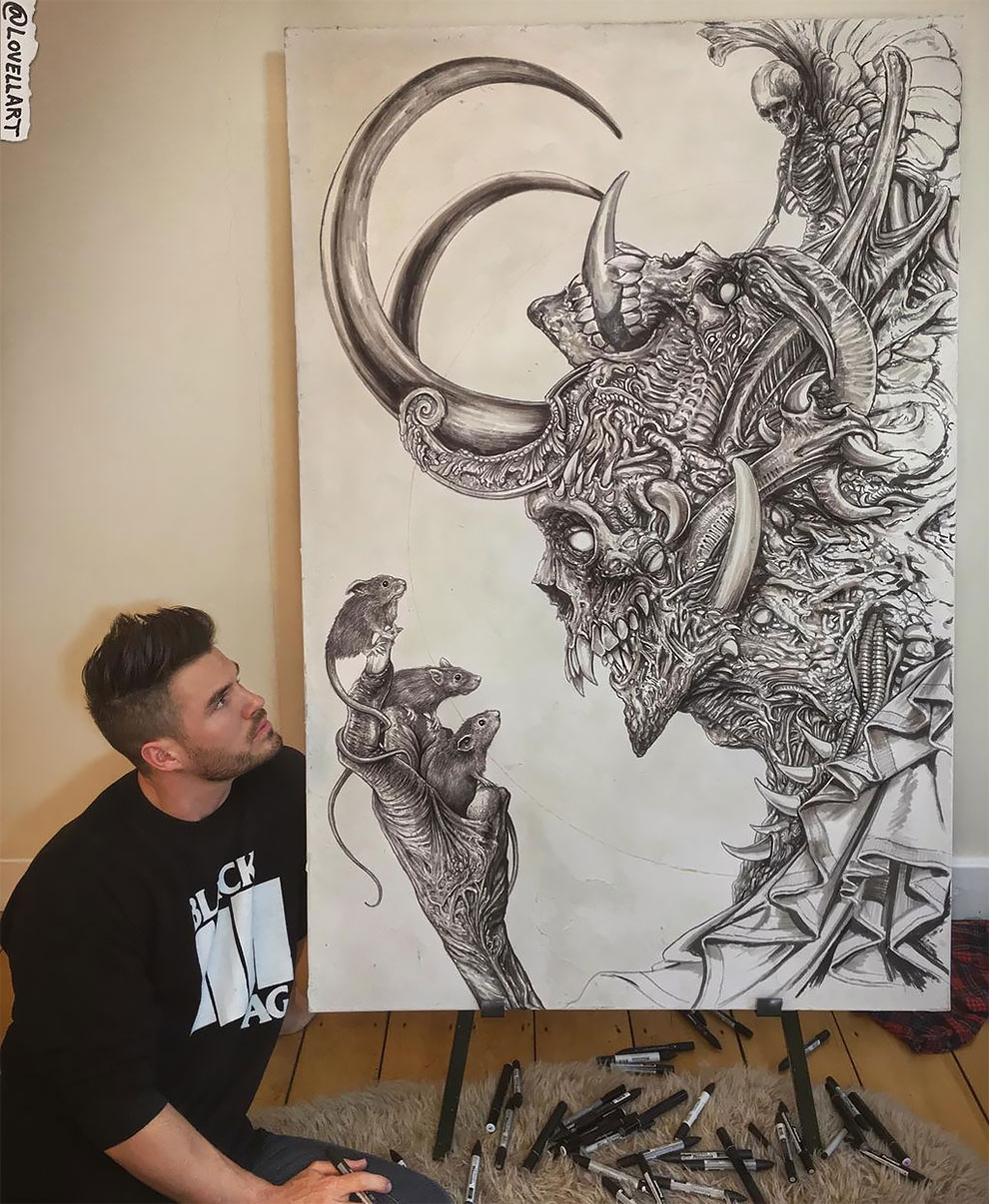 Ужасы, фэнтези и фантастика в рисунках Кристофера Ловелла