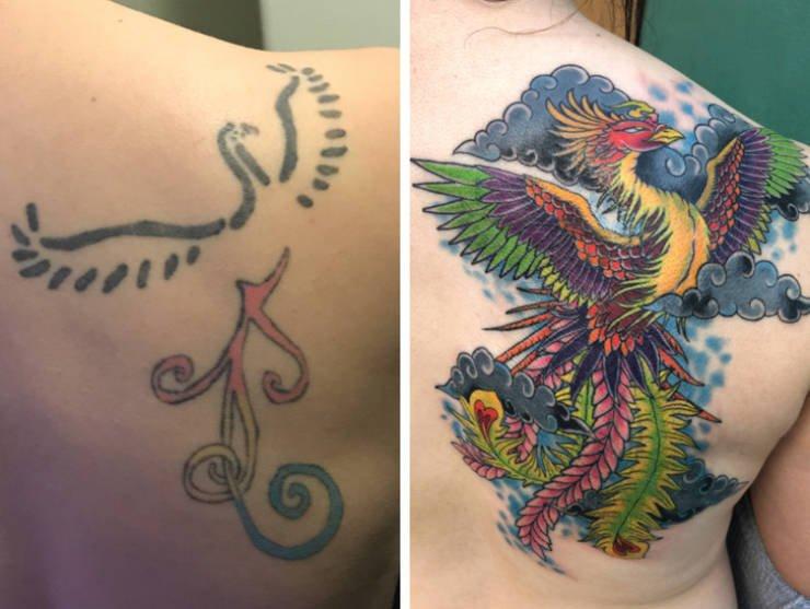 Обновление старых татуировок от мастеров