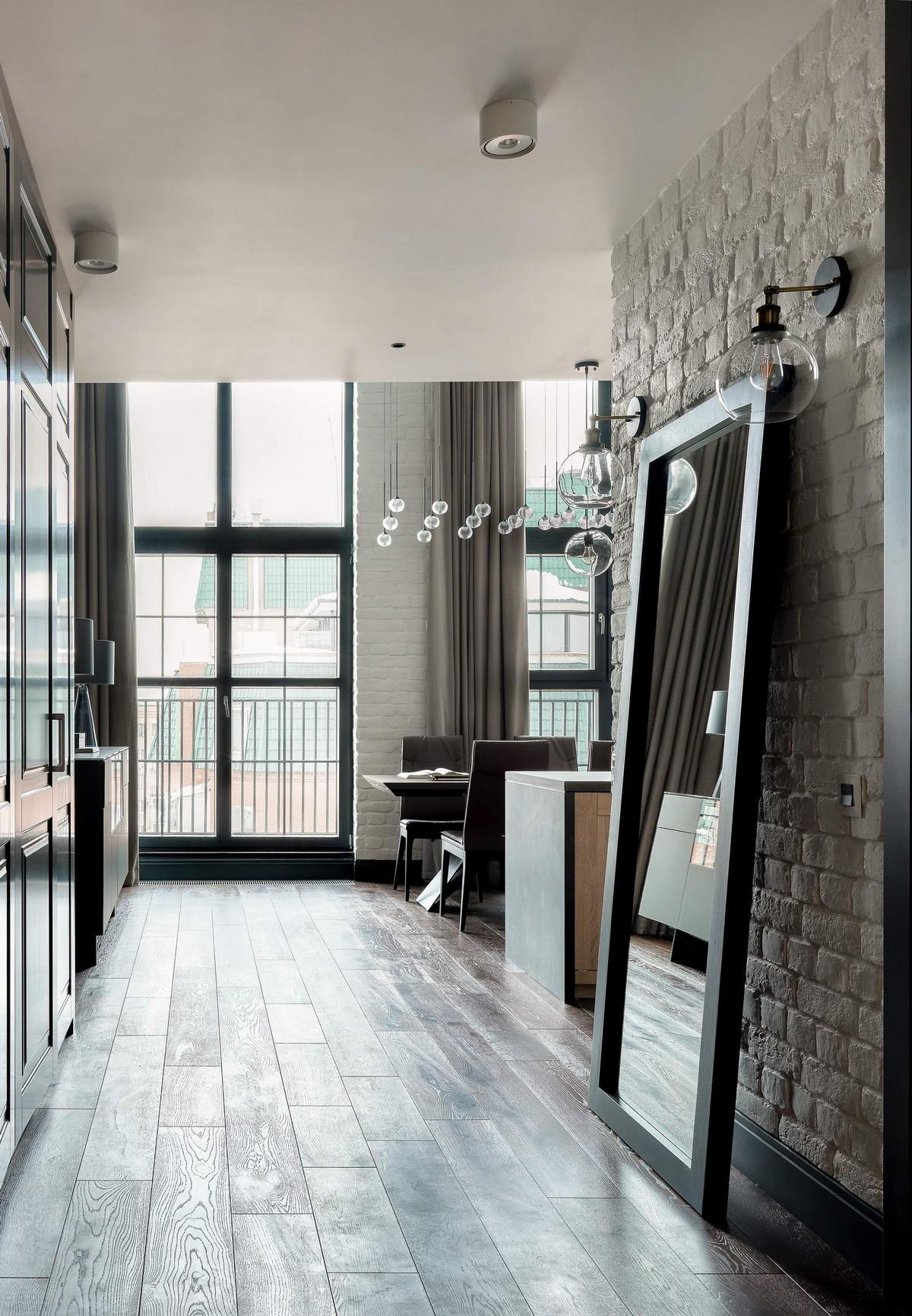 Современная двухуровневая квартира в здании бывшего завода в Москве