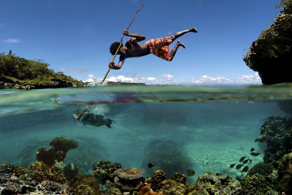 Полуподводные снимки на границе двух миров