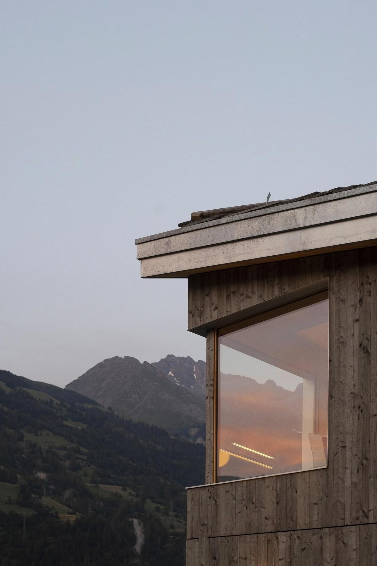 Современный дом в Швейцарских Альпах