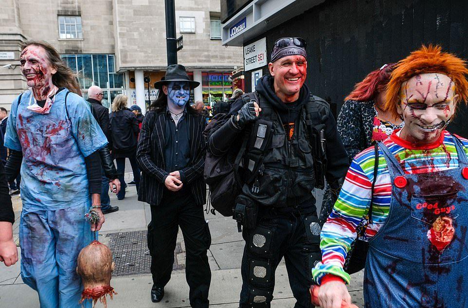 Zombi világnap London központjában