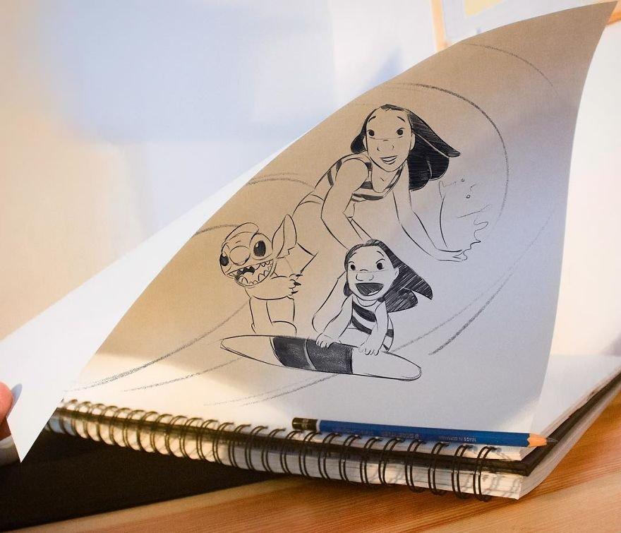 Невероятные оптические иллюзии в рисунках Луиджи Кемо Воло