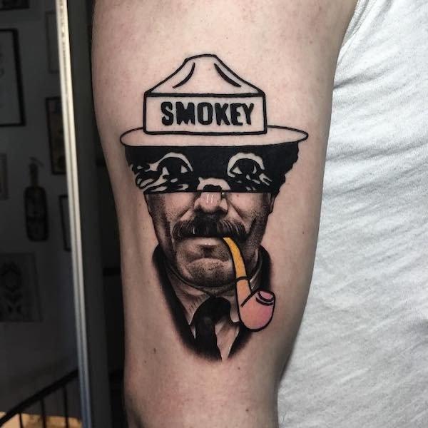 Французский тату-мастер коллажирует рисунки