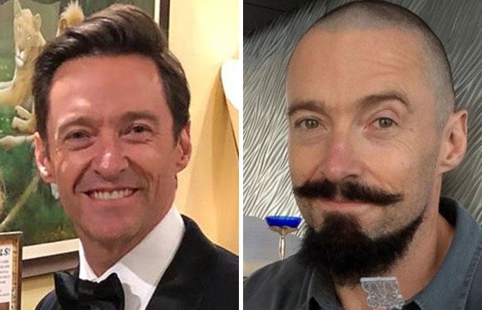 Голливудские знаменитости с волосами и без них