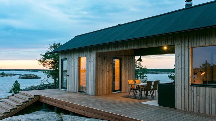 Дом для отдыха на живописном острове в Финляндии