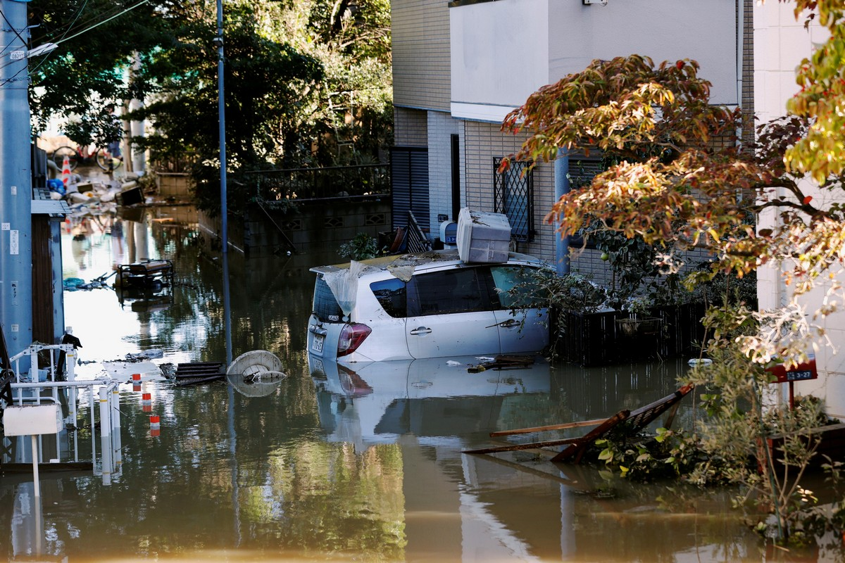 Последствия от тайфуна Хагибис в Японии