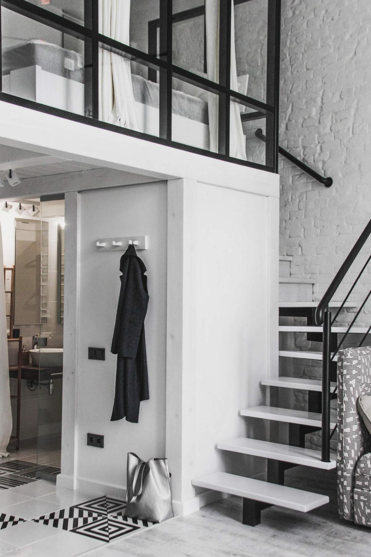 Современный двухуровневый лофт во Львове