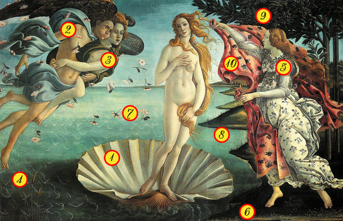 Загадки и символы картины Рождение Венеры Ботичелли