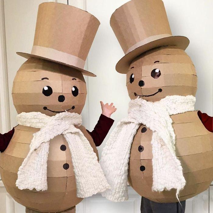 Необычные костюмы из обычного картона от Алисии Браун
