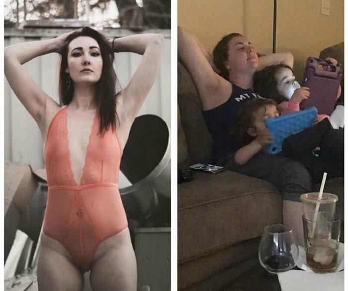 Честные фото о том, как меняется жизнь с появлением детей