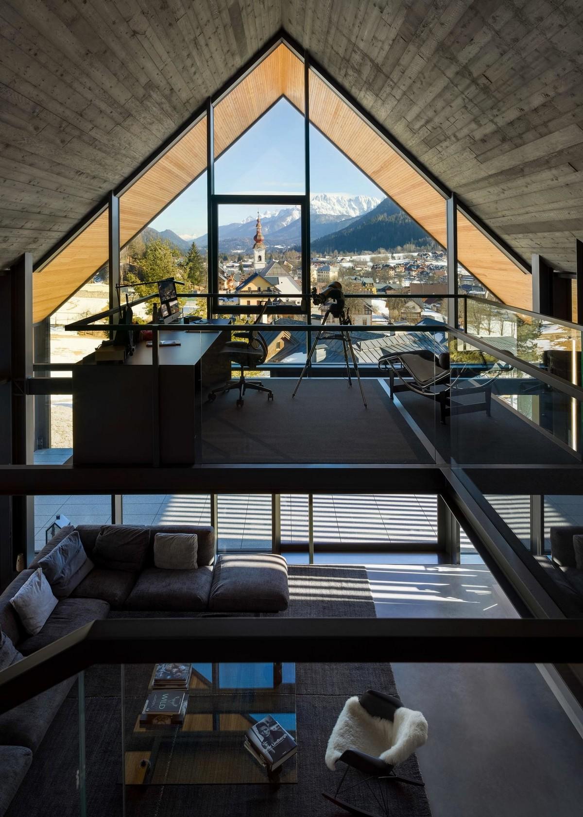 Современное шале в итальянских Альпах