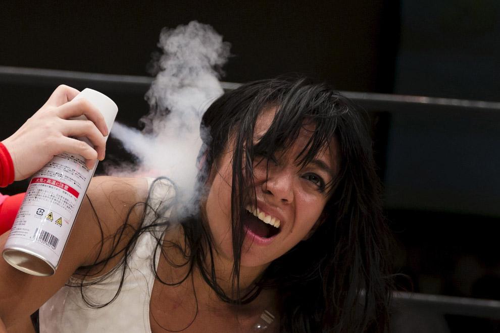 Женский реслинг в Японии на снимках