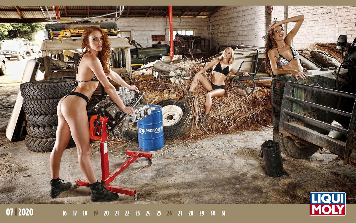 Календарь с горячими девушками LIQUI MOLY 2020