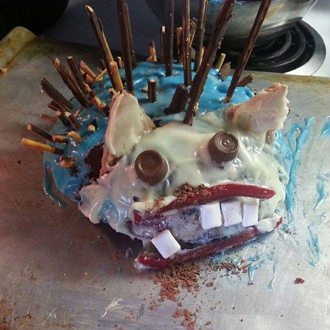 Неудачные пироги в виде ежиков из ночных кошмаров