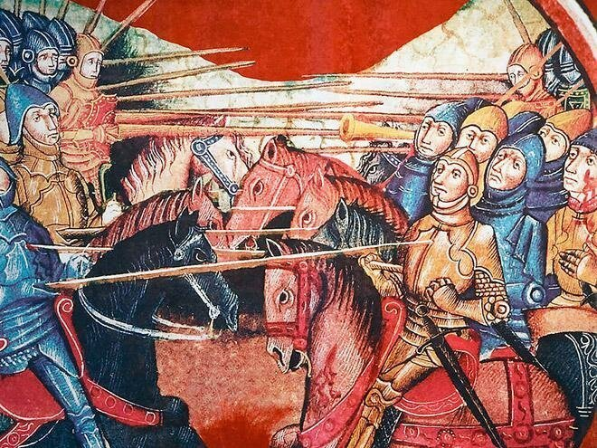 На средневековых картинах расправляются с людьми, а им плевать