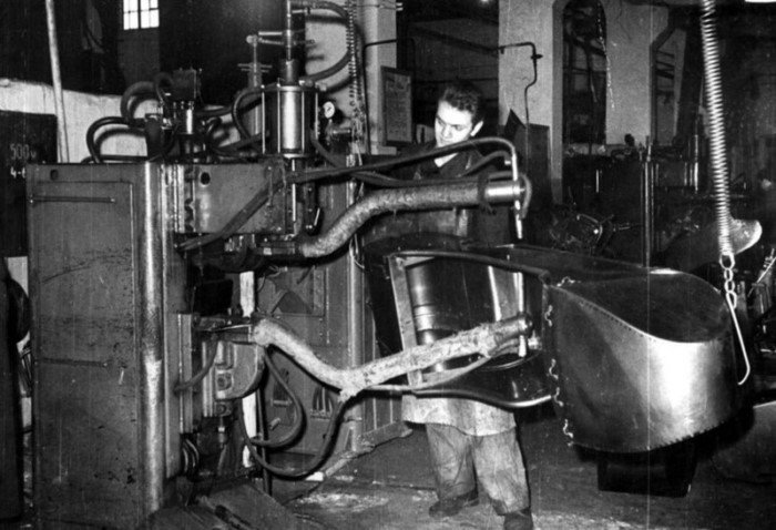 Выпуск мотоциклов К-750 на Киевском мотоциклетном заводе в 1960 году