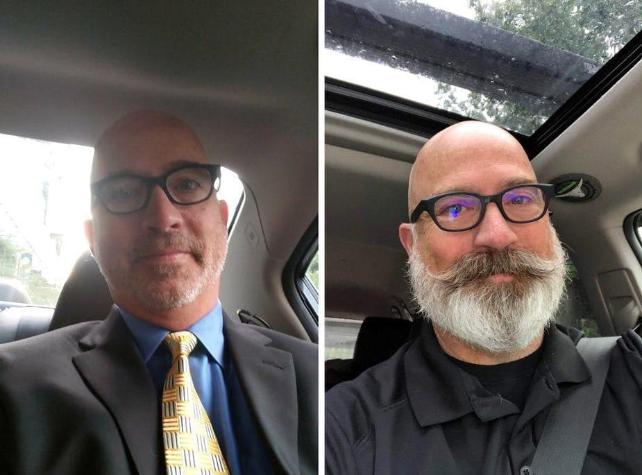 Мужчины с бородой и те, кто её сбрил (ФОТО)