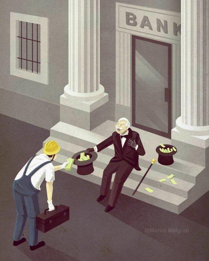 Провокационные иллюстрации о современном мире от Марко Мелграти