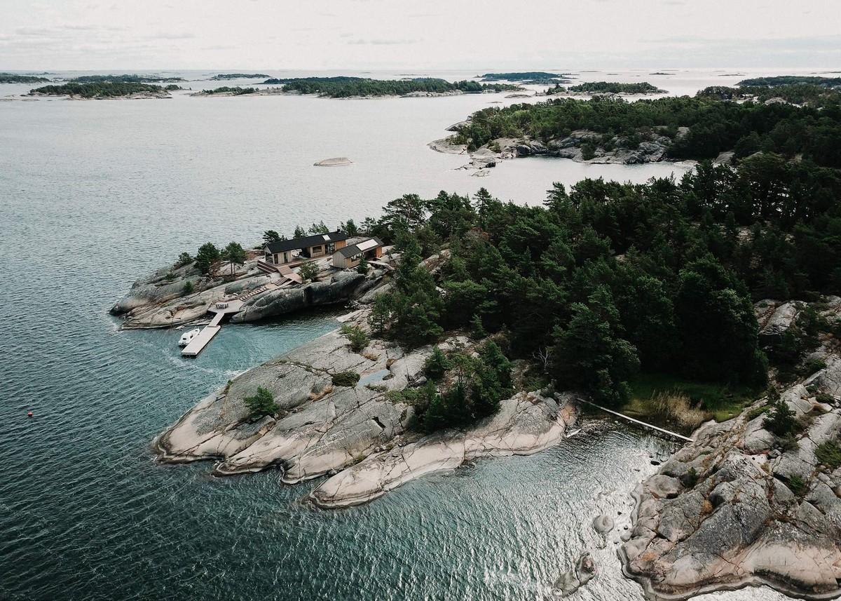 Летний дом на острове в Финляндии