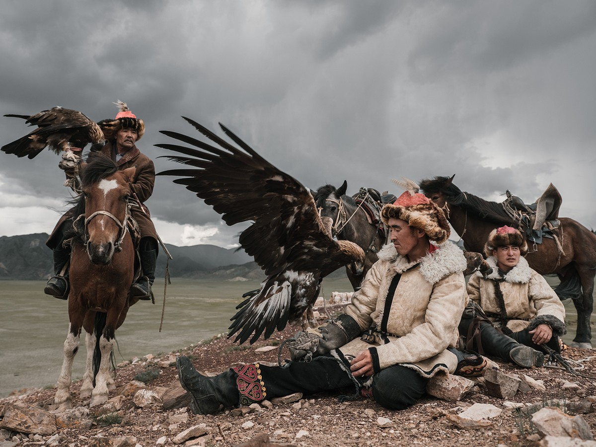 Охотники с орлами Монголии на снимках Николая Бондарева