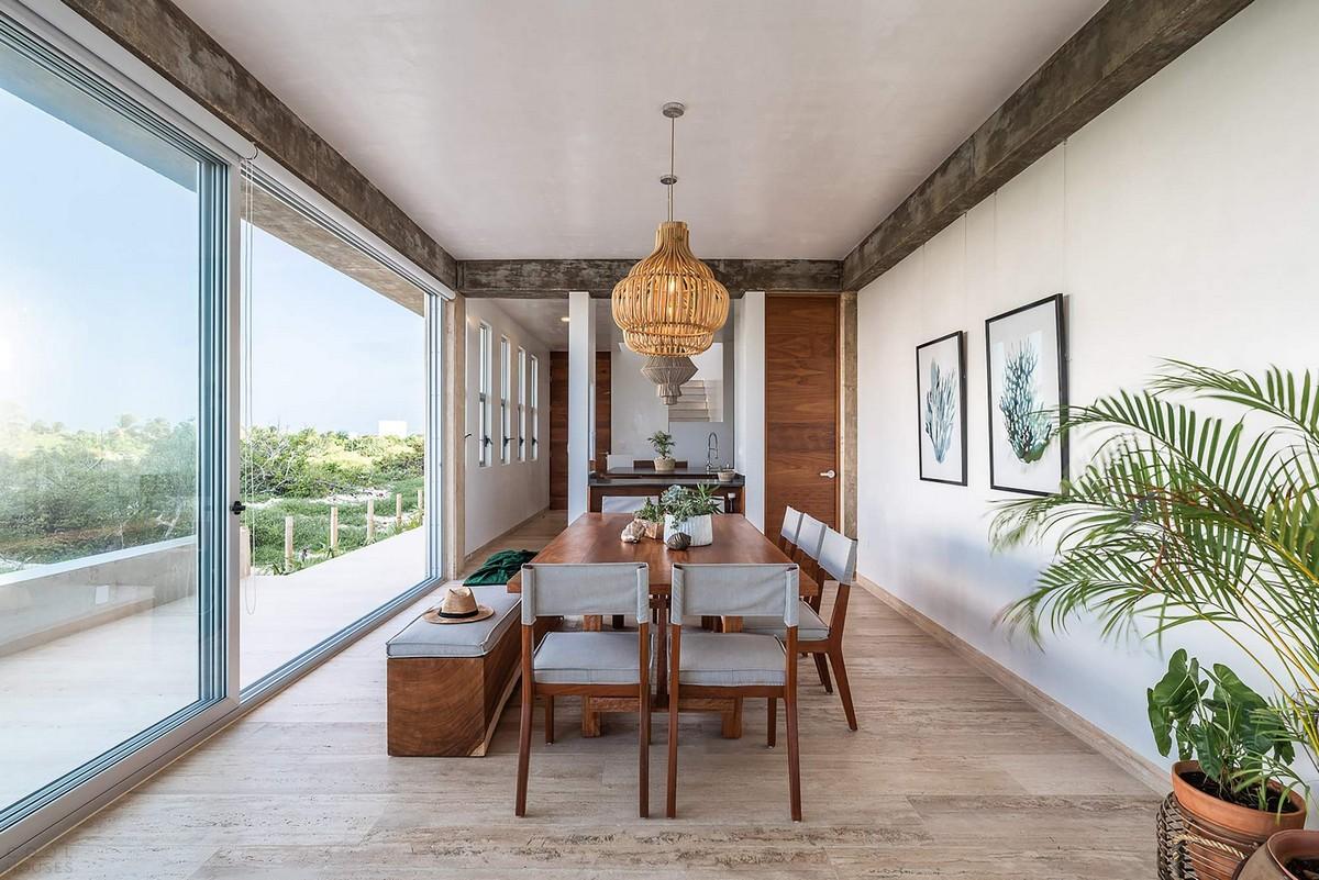 Современный бетонный дом на полуострове Юкатан в Мексике