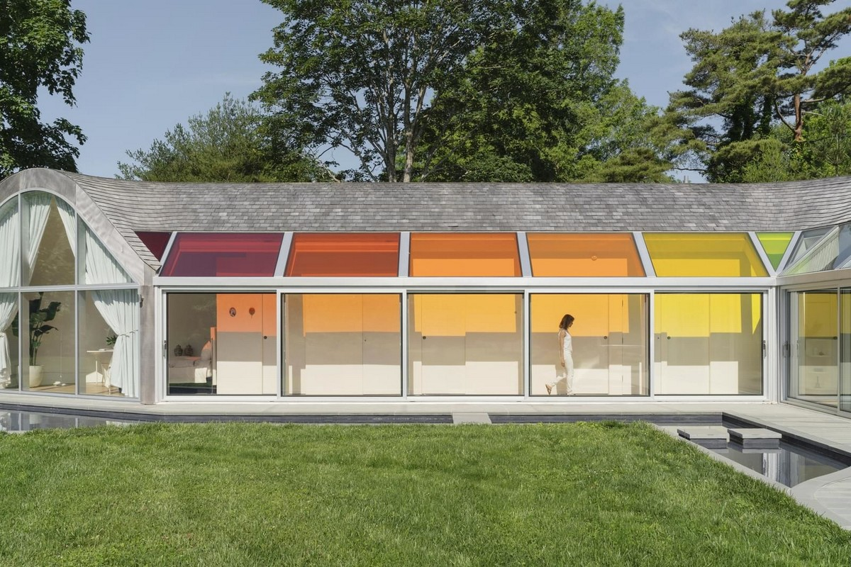 Дом в форме кокона в штате Нью-Йорк